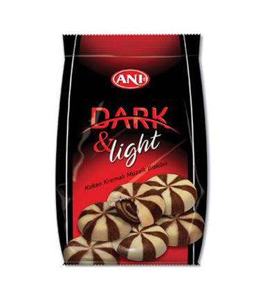 Anı Dark & Light Fındık Kremalı Bisküvi, Dark & Light Marble Biscuit Filled With Hazelnut Cream