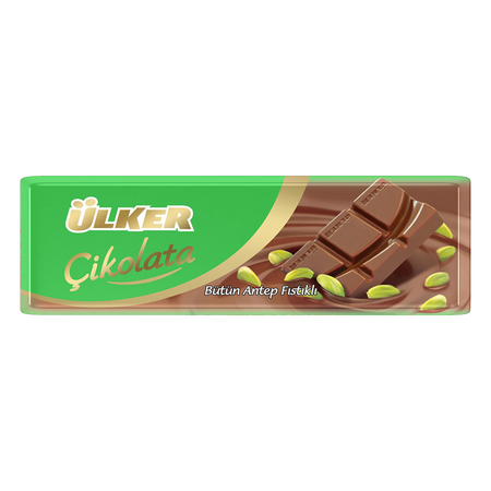 ULKER - MILK CHOCOLATE with PISTACHIOS 32 g