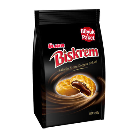 ÜLKER - BISKREM BISCUIT FILLED w/ CACAO CREAM 200g
