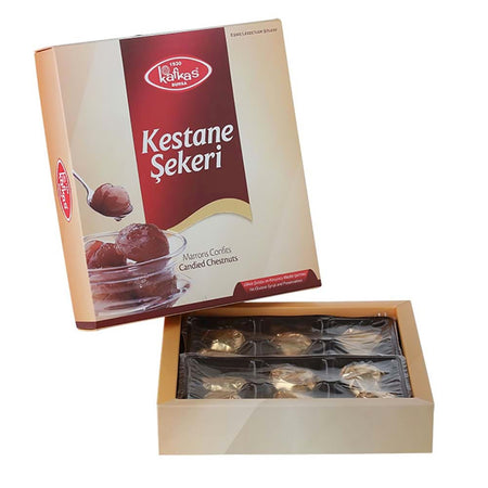 KAFKAS -PASTEURISED CANDIED CHESTNUT  12pc 240g