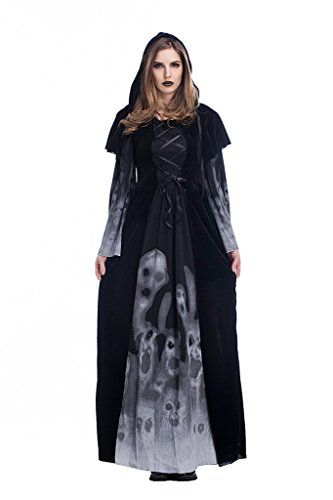 Women's Classic Vampire Skull Print Cosplay Dress