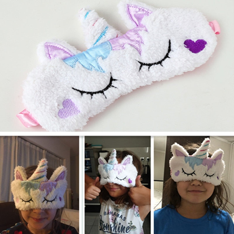 Kids Sleep Mask - Eye Mask Covers - Meditation - Purple