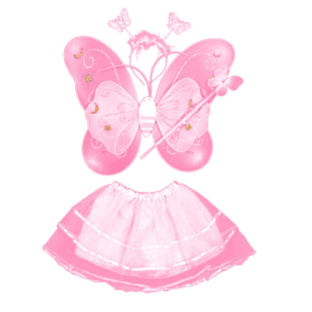 Fairy dress butterfly costumes wings tutu skirt set