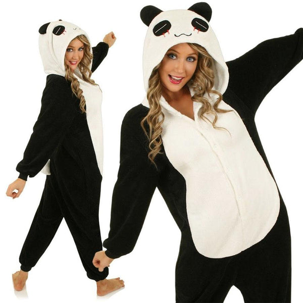 AJ Costumes-Adult Black Panda - Shopzinia Egypt