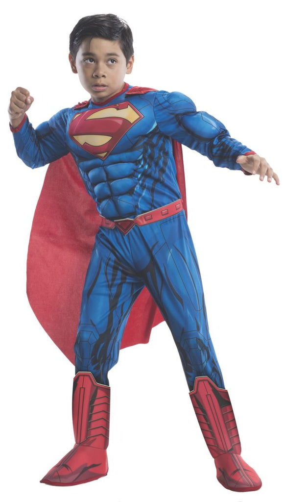 Rubies Deluxe Muscle Chest Kids Superman Costume