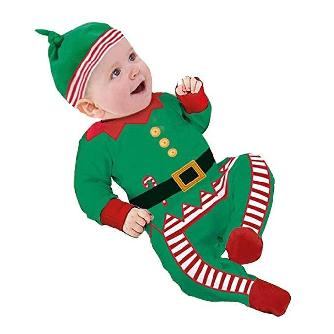 Baby Christmas Elf Bodysuit Costume - Shopzinia