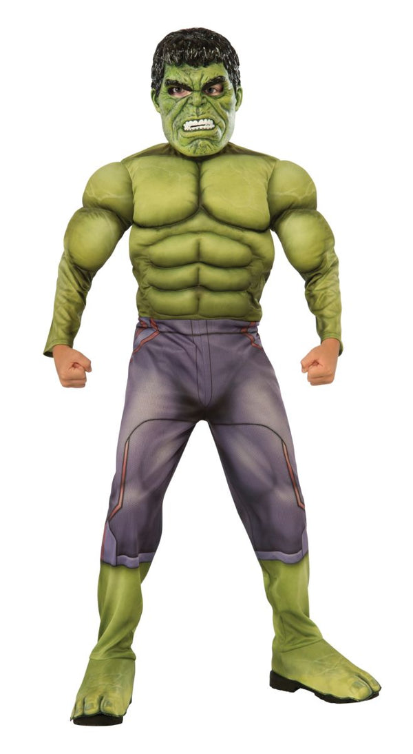 Rubies Kids Deluxe Muscle Chest Hulk Costume