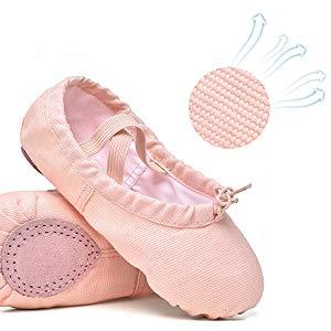 Girls Ballet Slipper Shoes - Ballerina Shoes Yoga Dance Shoes Flats