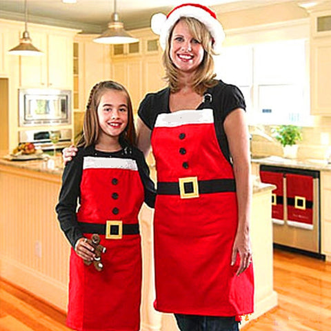 Apron Christmas Santa Claus Christmas Party Cooking Apron