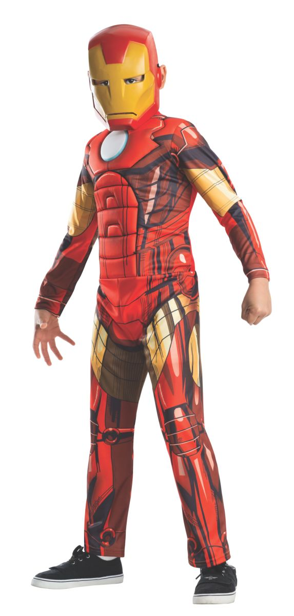 Rubies Deluxe Muscle Chest Kids Iron Man Costume