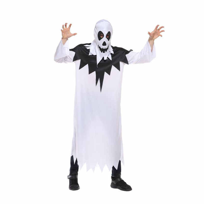 Scary White Ghost Halloween Costumes