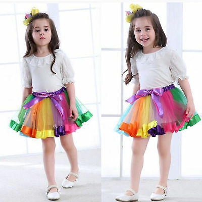 Rainbow Tutu Skirt with Unicorn Headband