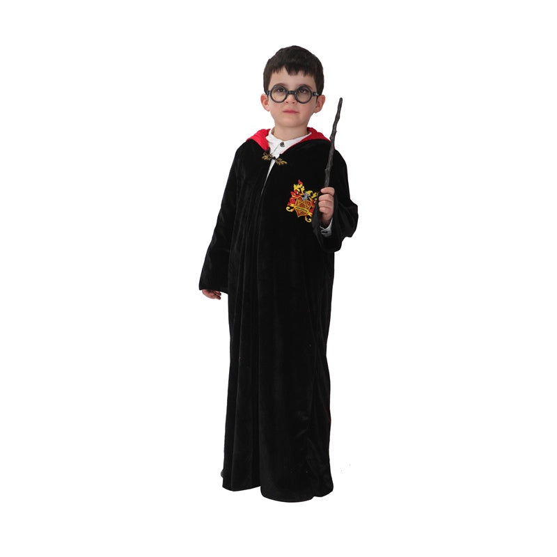 Magician Costumes for Boy Child Kids Wizard Magic Little Student Costume Cosplay Robe