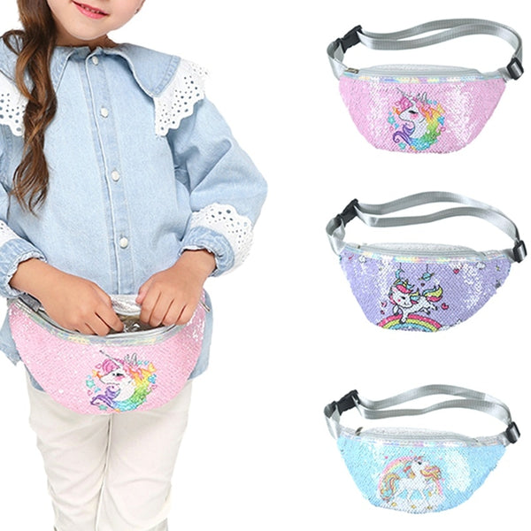 Shopzinia Kid Plush Waist Bag unicorn
