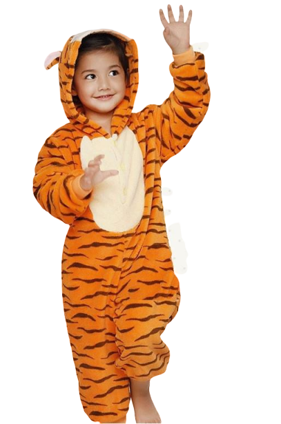 AJ Costumes- KIDS Tiger Animal Cosplay Costume Pajamas-Sleepwear Cartoon Festival / Holiday Costumes