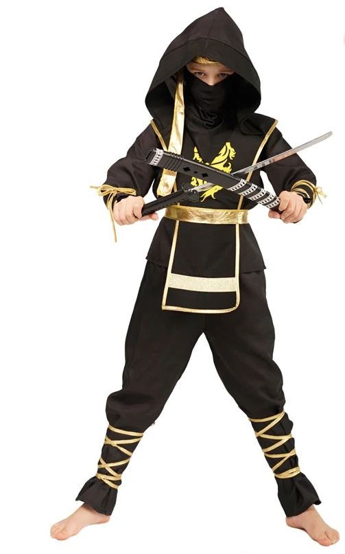 Golden Dragon Ninja Assassin Costume Characters Costumes For Unisex