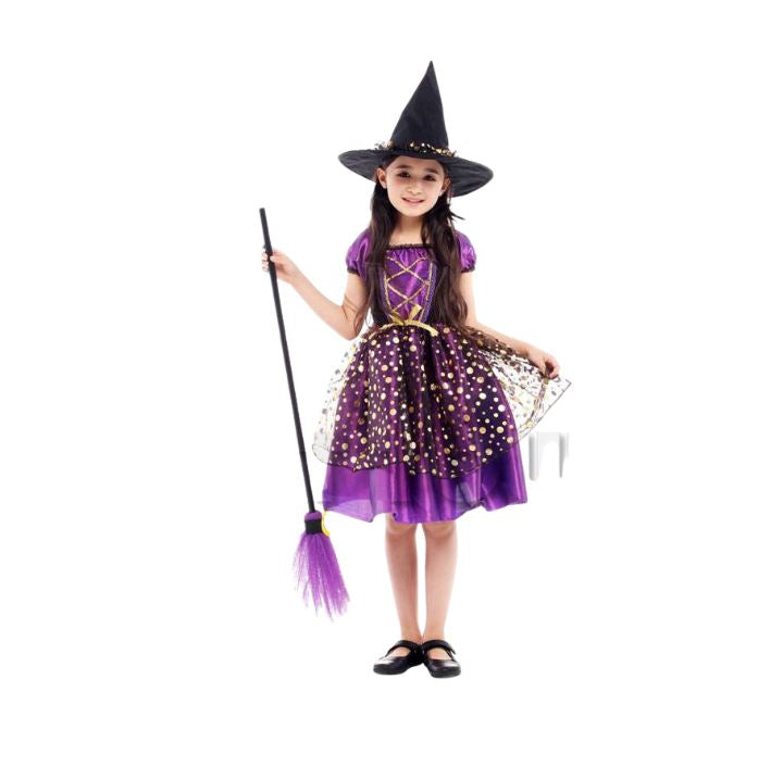 Elegant Witch girl Halloween costumes