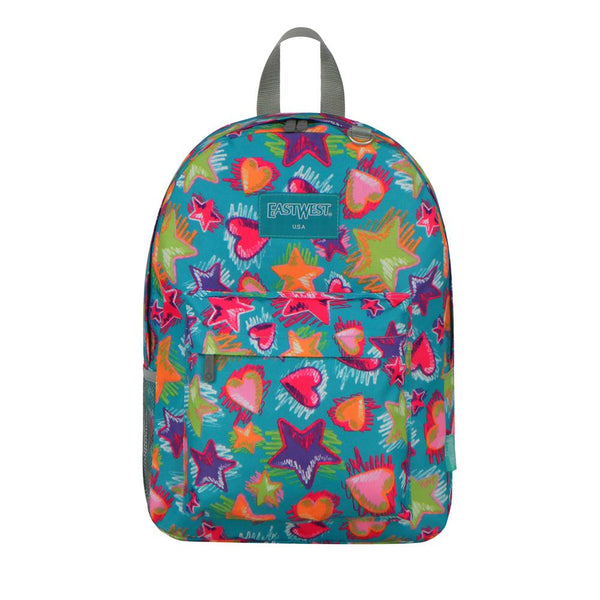 East West U.S.A. Simple Print Pattern Backpack -Star - Shopzinia Egypt