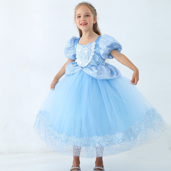 Girls Cinderella Costumes Halloween Princess Dress Up Fancy