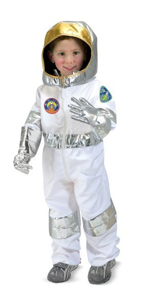Children's Astronaut Costume Space Pretend Dress up Role Play Set for Kids