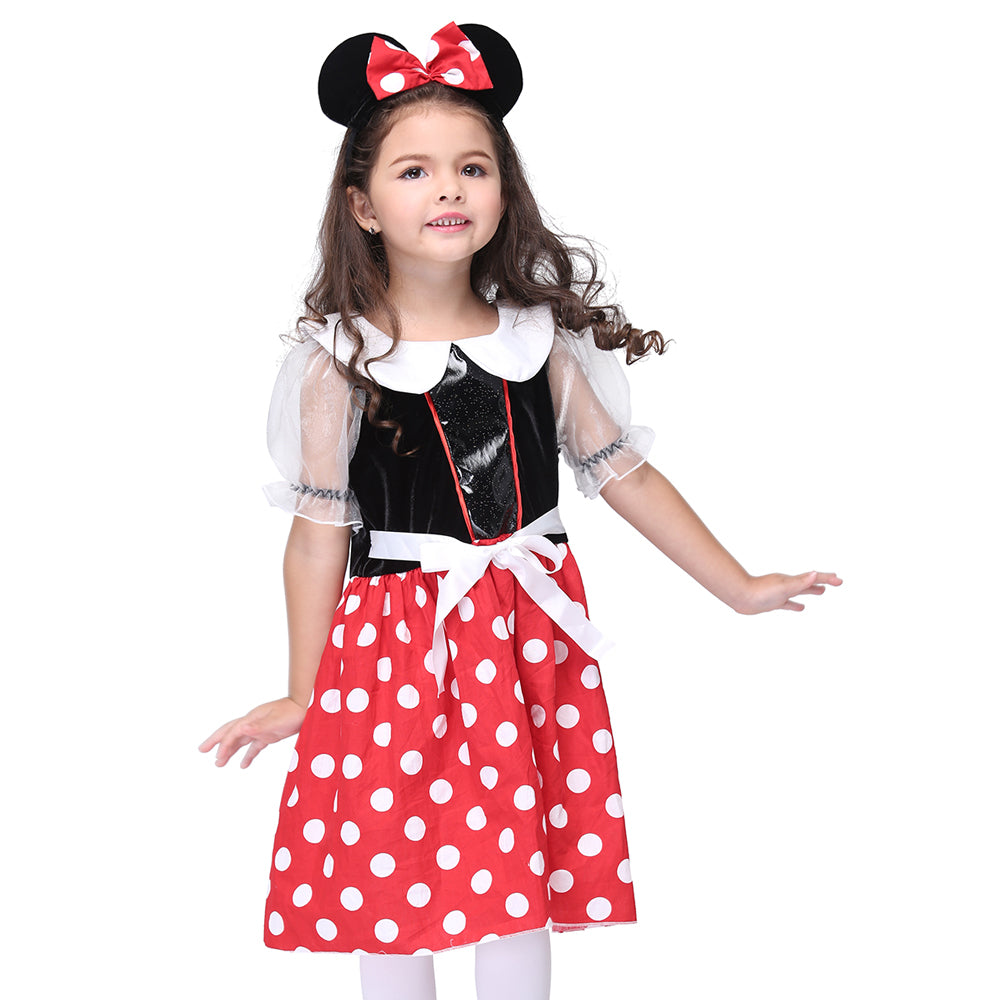 Red Mouse Fancy Dress Kids Cosplay Costume Halloween