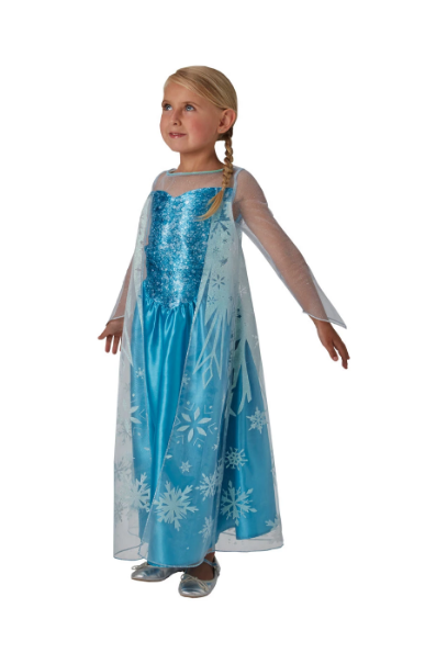AJ Costumes -DRESS FOR GIRLS-blue-Frozen-ice- CODE 14015