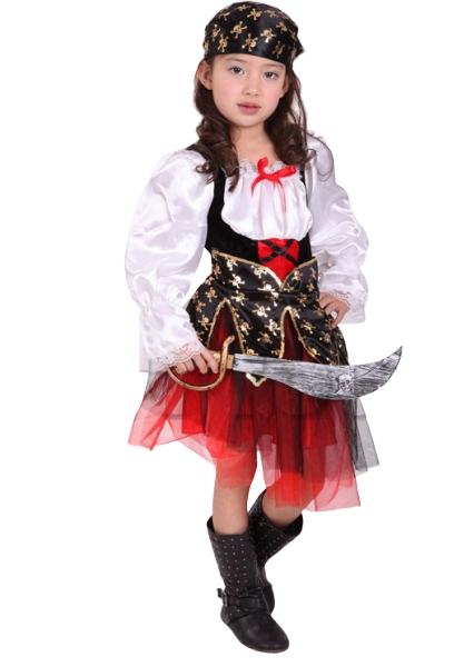 CARIBBEAN PIRATE GIRL-Halloween -Aj Costumes