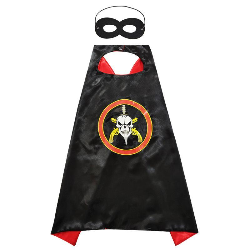 HALLOWEEN CAPE & MASK SET Costume Set Fancy Dress-ghost-Aj Costumes