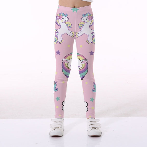 Kids Pants Unicorn Legging Girls Trousers Leggings For Girls Legging Elasticity Breathable Soft Print Baby Boy Girls Pants