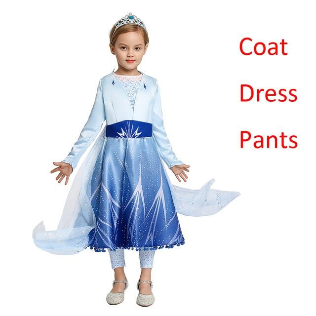 Fancy Princess Dress Baby Girl Clothes Kids Party Cosplay Costume Children Dress