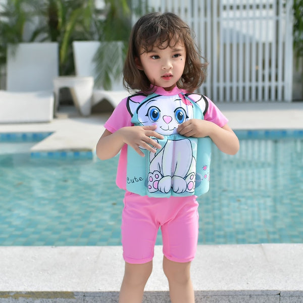 Kids Baby Boys Girls Swimsuit Float Suit Adjustable Buoyancy Cartoon Swimsuit Cap Beach Swimsuit For Girls Swimwear 2020 Summer
