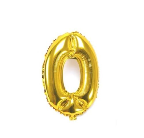 Number 0 Gold Party Foil Balloon 16inch