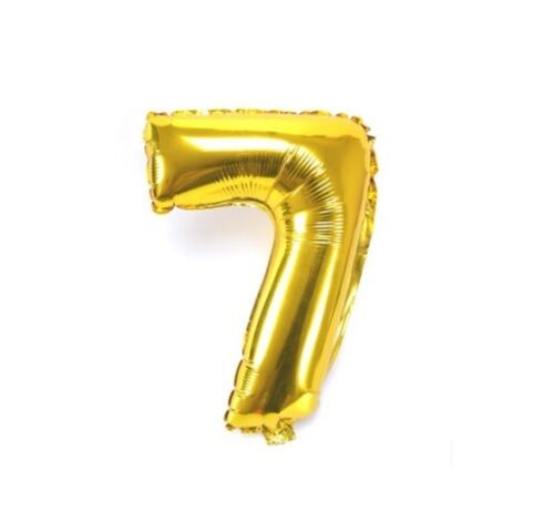 Number 7 Gold Party Foil Balloon 16inch