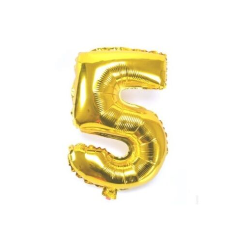 Number 5 Gold Party Foil Balloon 16inch