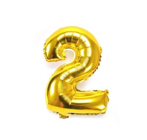 Number 2 Gold Party Foil Balloon 16inch
