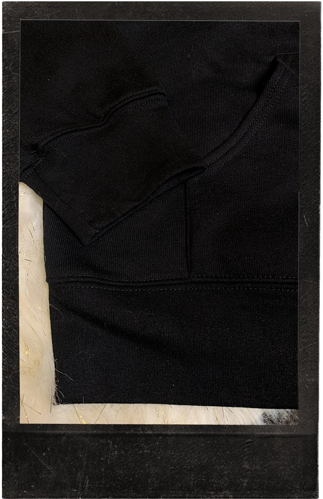 New! Luxury Black Hoodie - Sahi Cosmetics