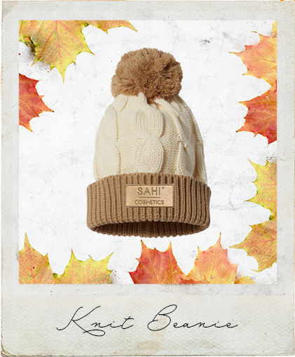 New! Chunky Knit Beanie with Cuff and Pom-Pom - Sahi Cosmetics
