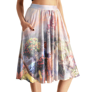 0007 Sexy Girl The 3D Midi Knee Skirts With Pocket - 0007 / S