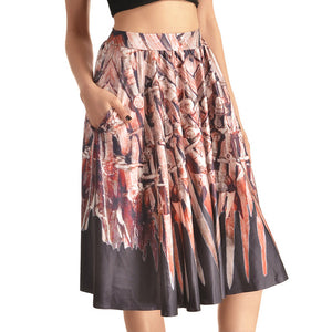 0007 Sexy Girl The 3D Midi Knee Skirts With Pocket - 0002 / S