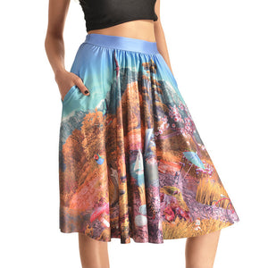 0007 Sexy Girl The 3D Midi Knee Skirts With Pocket - 0005 / S