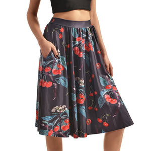 0007 Sexy Girl The 3D Midi Knee Skirts With Pocket - 0006 / S