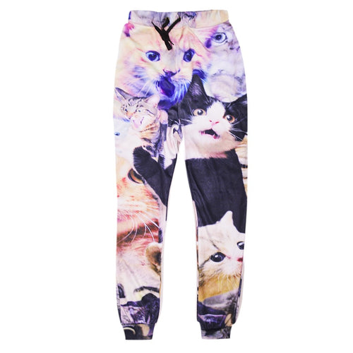hip hop trousers fashion funny cat sweat pant pt29