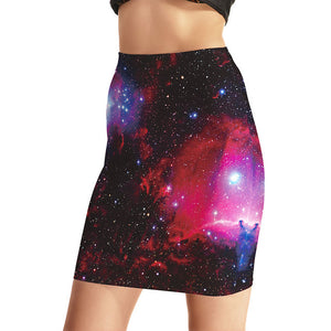 0015 Sexy Girl Sky Rose 3D Sexy Mini Tight Skirt - 0015 / S