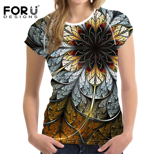 Tops Tees 3D floral Shirt Femme T Shirts Top - The3dfashion.com