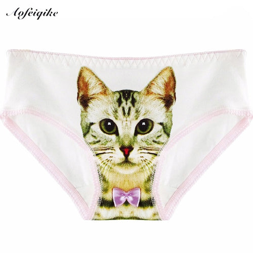 3D Cat Panty Trousers Sexy Lingerie Intimates briefs