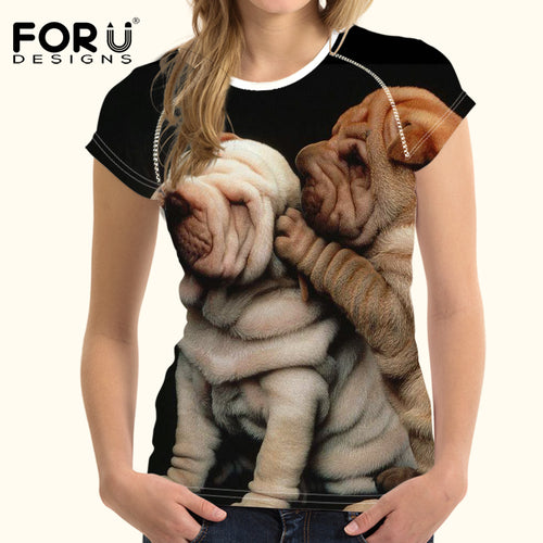 T for 3D Casual Tee Shirts Dogs Clothes Tops
