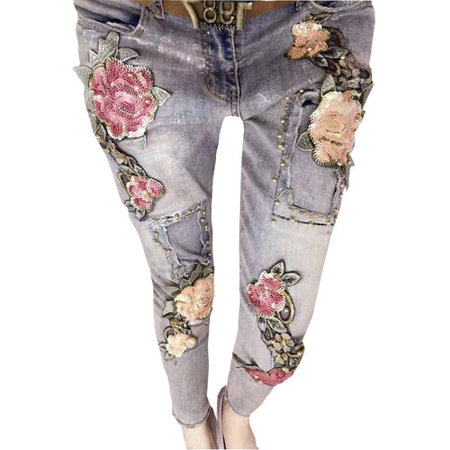3D Stretch 2018 Fashion Female Jeans For Girls Women