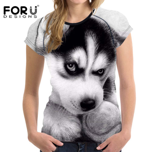 t-shirt Stupid T Shirts 3D Dog Short Femme Tops - The3dfashion.com