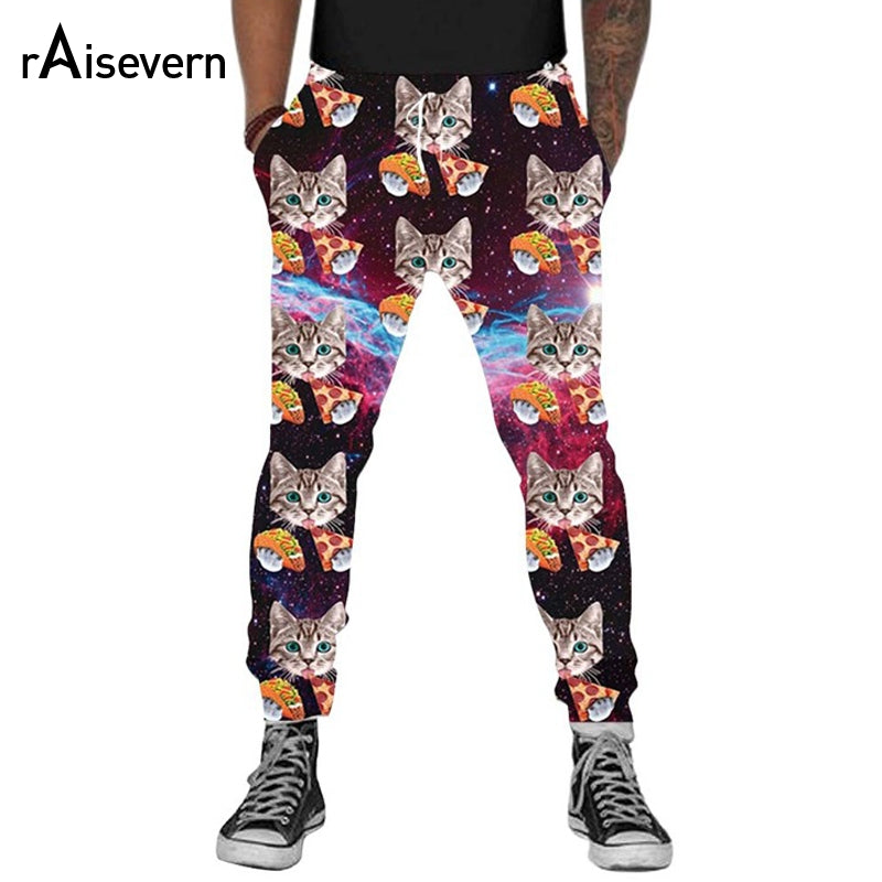 2018 3D Cat Funny Men Casual Trousers Dropship
