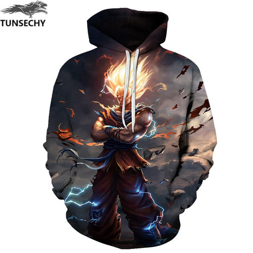 Anime Ball Z Goku 3D Men Long Sleeve New Hoodie